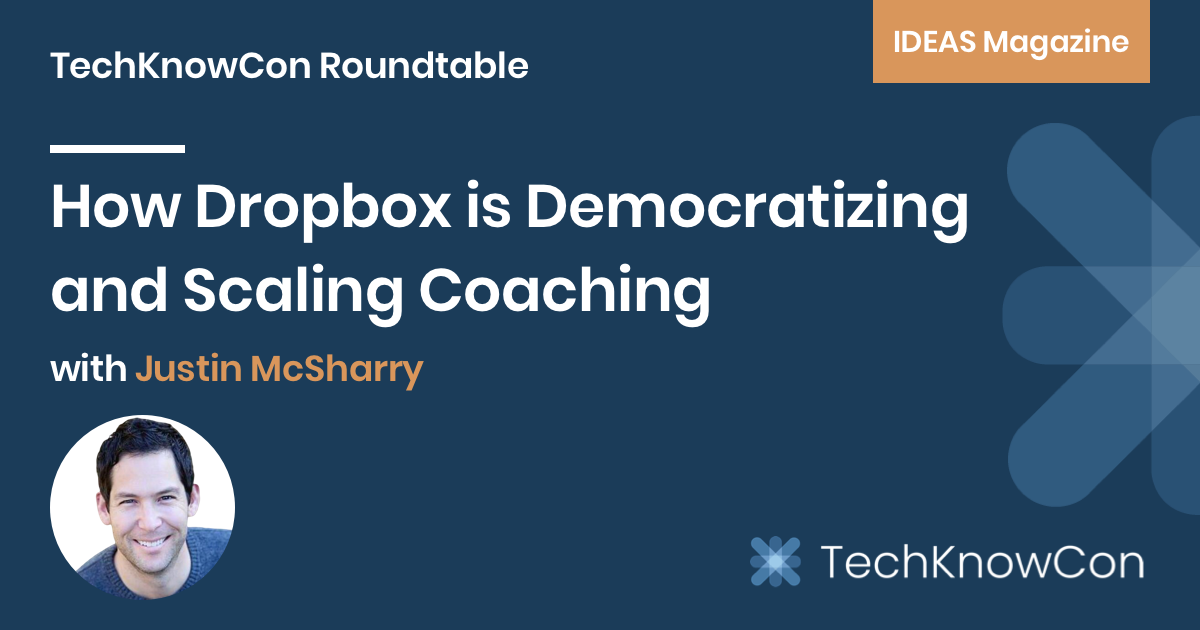 Justin McSharry, Dropbox's Global Head of Leadership Development