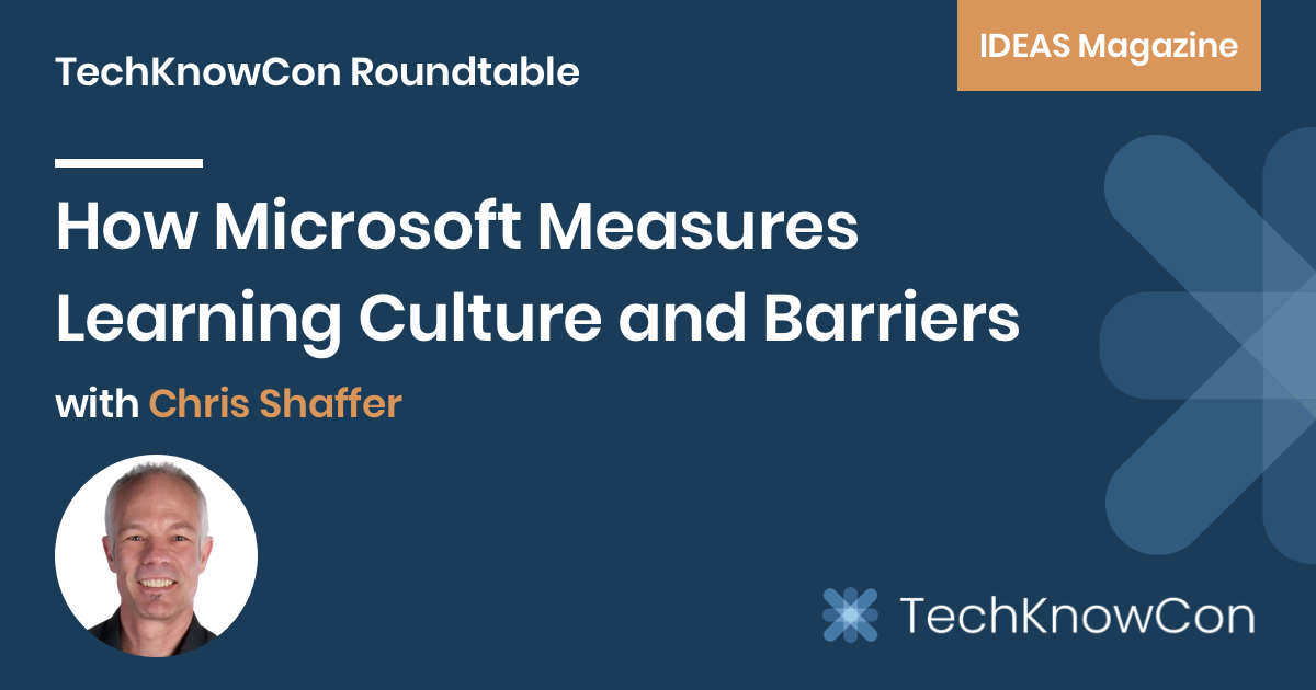 Chris Shaffer, Microsoft's Director of Engineering Learning & Insights